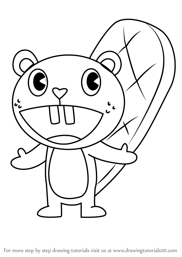 happy tree friends coloring pages - photo#28