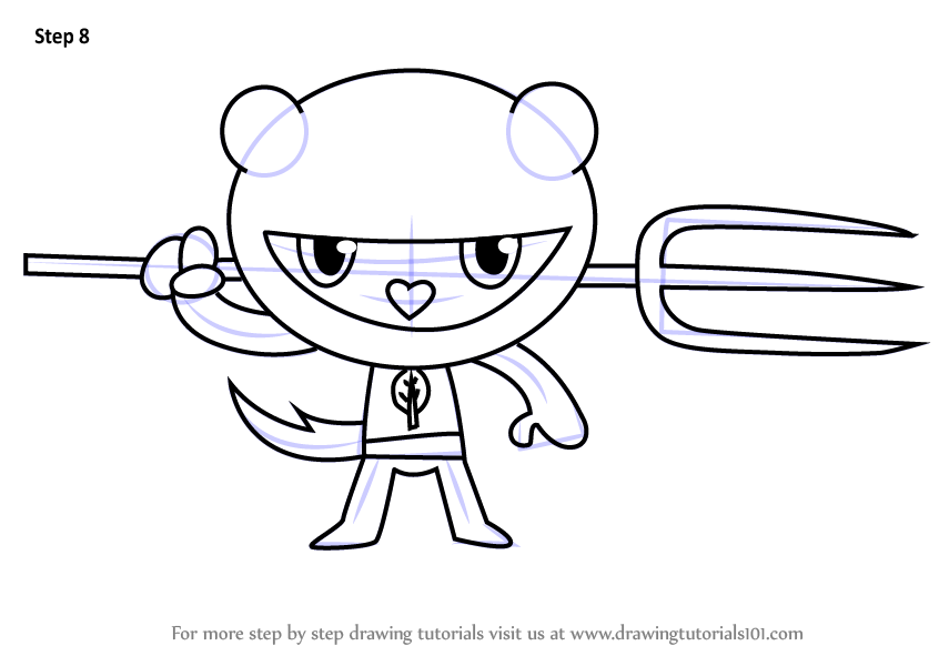 Learn How to Draw Tree Ninjas from Happy Tree Friends (Happy Tree ...