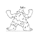 How to Draw Fogbark Monster from Harvey Beaks