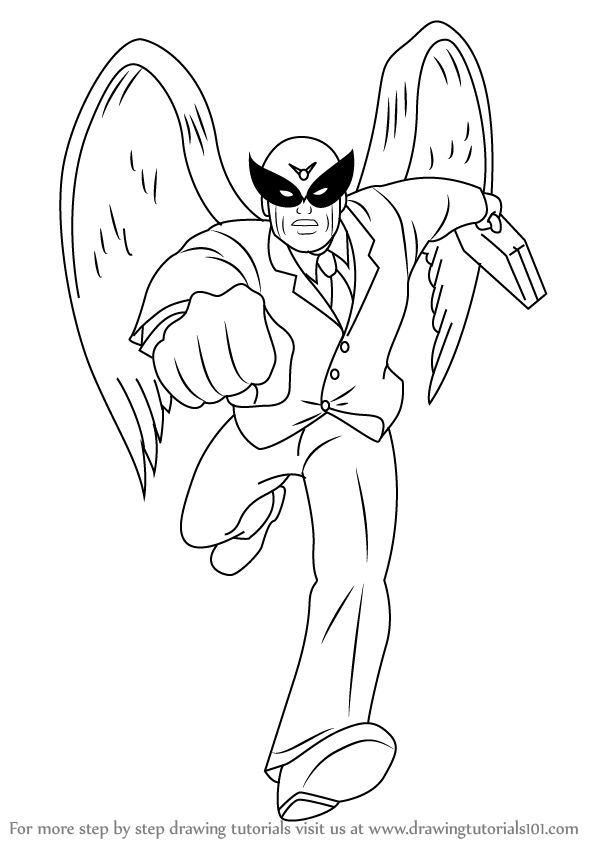 Learn Draw Harvey Birdman Attorney Law Coloring Pages