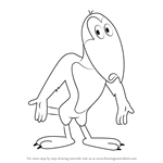 How to Draw Heckle from Heckle and Jeckle