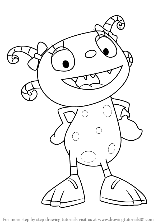 Henry Hugglemonster Coloring Pages Pictures To Pin On