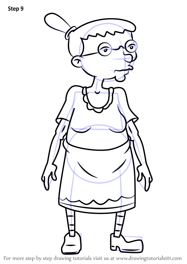 learn how to draw grandma gertrude from hey arnold hey