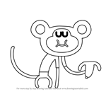 How to Draw Naughty Monkey from Hey Duggee