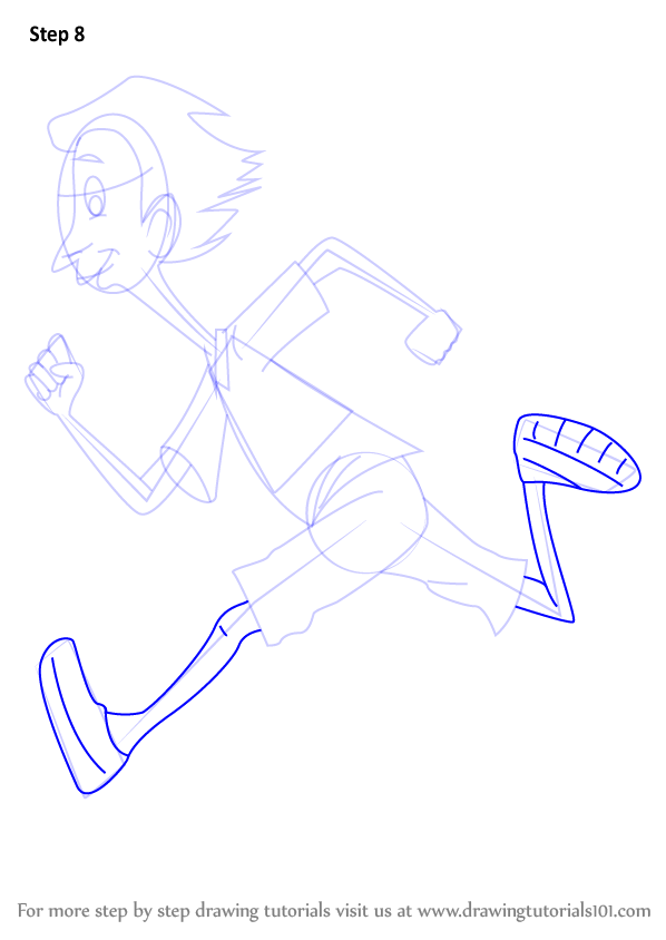 how to draw horrid henry step by step