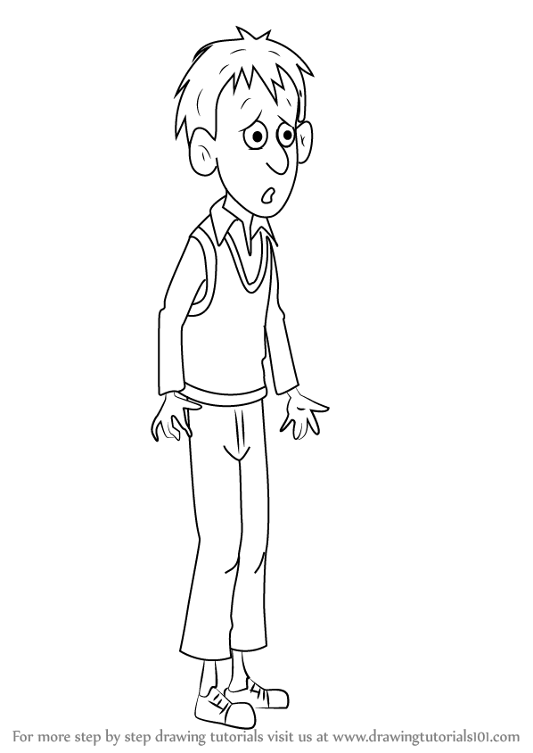 Learn How To Draw Anxious Andrew From Horrid Henry Horrid