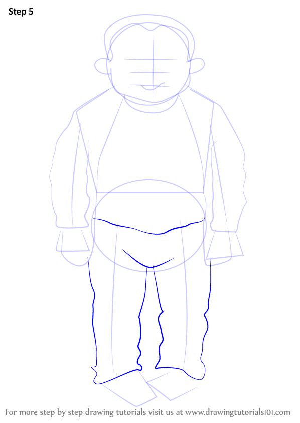 Step by Step How to Draw Beefy Bert from Horrid Henry ...