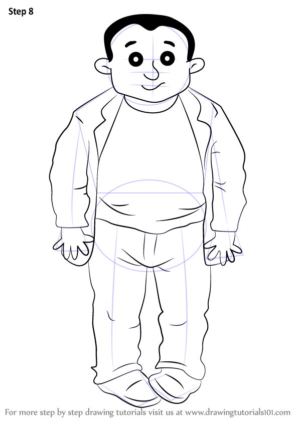 Learn How To Draw Beefy Bert From Horrid Henry Horrid Henry Step By Step Drawing Tutorials