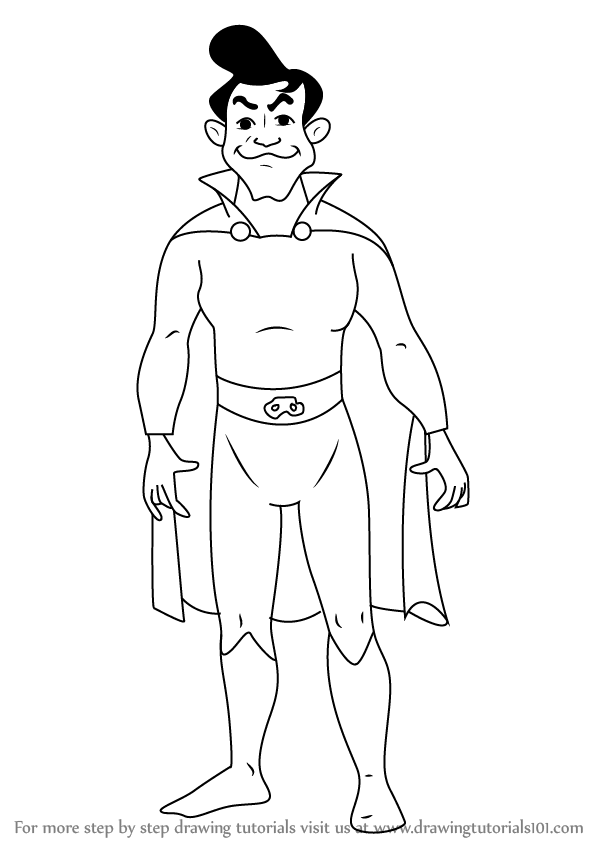 Learn How To Draw Fearless Phantom From Horrid Henry Horrid Henry Step By Step Drawing Tutorials