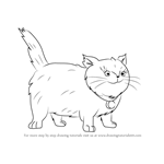 How to Draw Fluffy the Cat from Horrid Henry