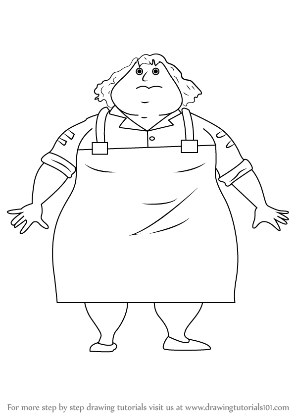 Learn How To Draw Greasy Greta From Horrid Henry Horrid Henry Step By Step Drawing Tutorials