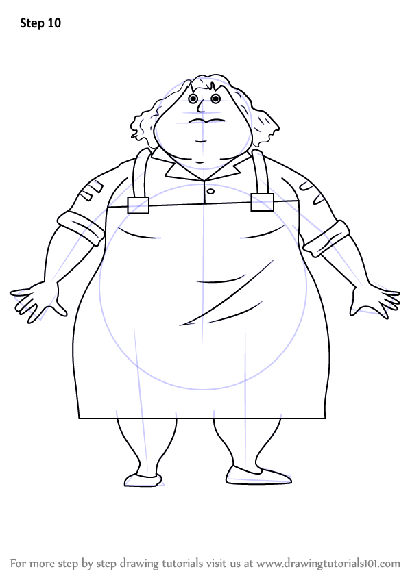 Learn How To Draw Greasy Greta From Horrid Henry Coloring Pages