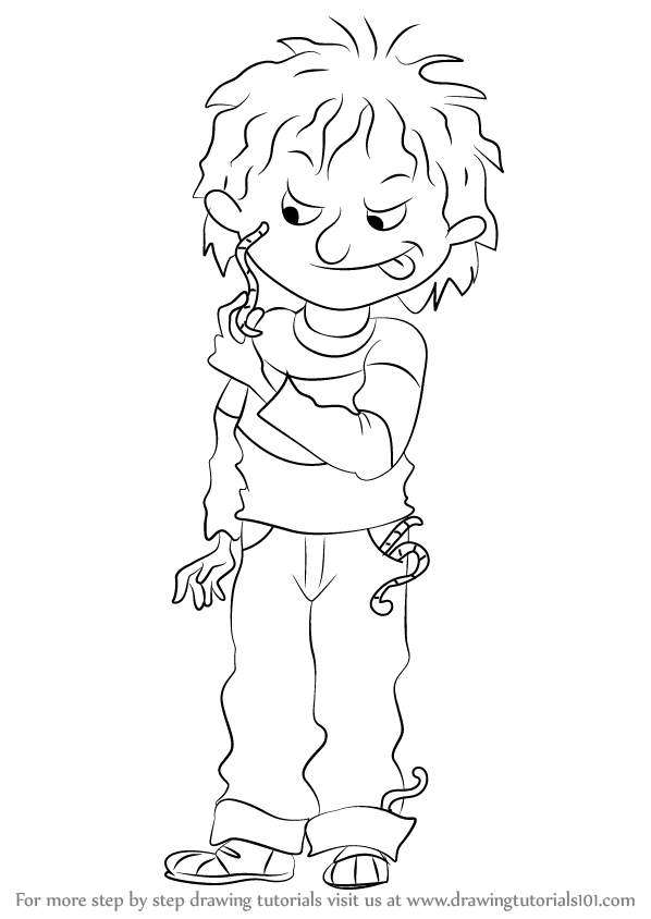 Learn How To Draw Horrid Henry Horrid Henry Step By Step