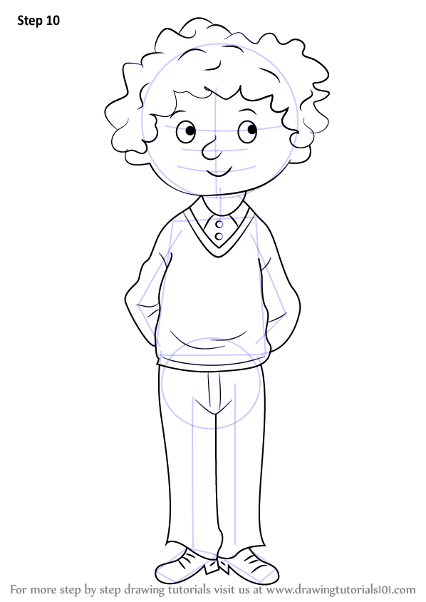Learn How To Draw Perfect Peter From Horrid Henry Horrid Henry Step By Step Drawing Tutorials