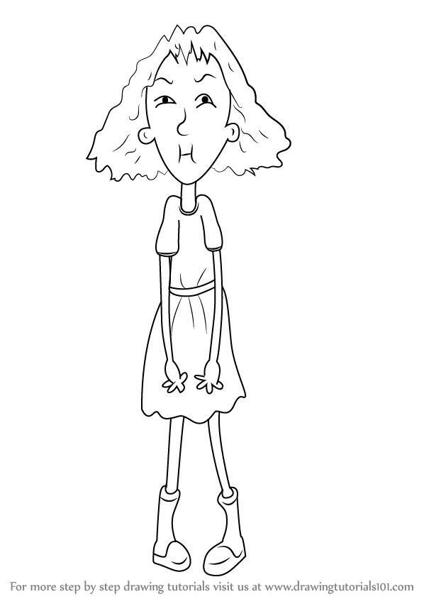 Learn How To Draw Sour Susan From Horrid Henry Horrid Henry Step By Step Drawing Tutorials