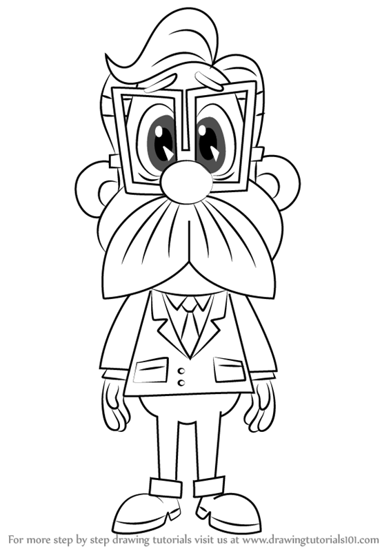 gadget boy coloring pages   Learn How to Draw Chief Quimby from Inspector Gadget ...