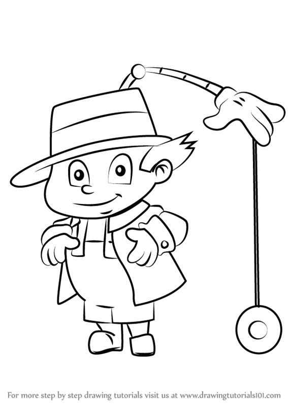 gadget boy coloring pages   Learn How to Draw Gadget Boy from Inspector Gadget ...