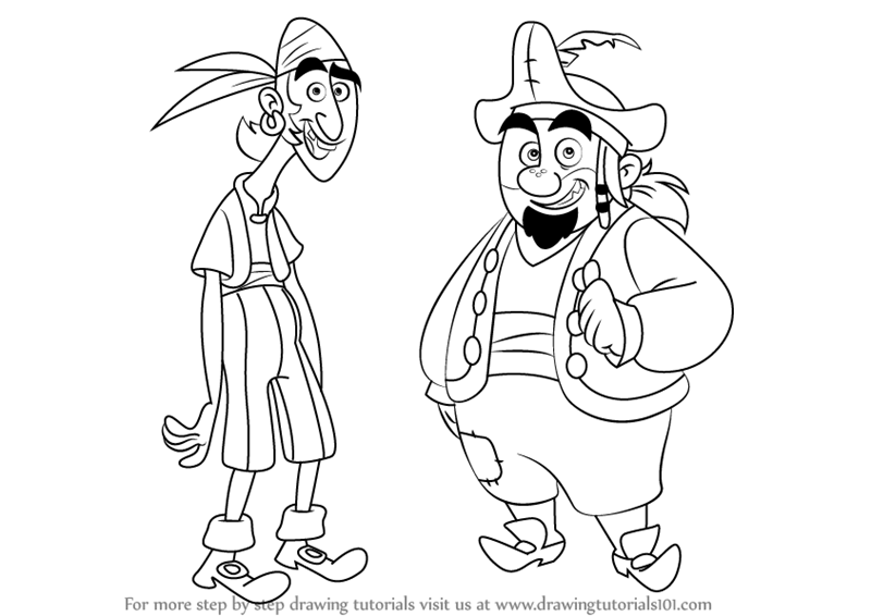 Sharky and bones coloring pages coloring pages for Jake and the neverland pirates coloring pages