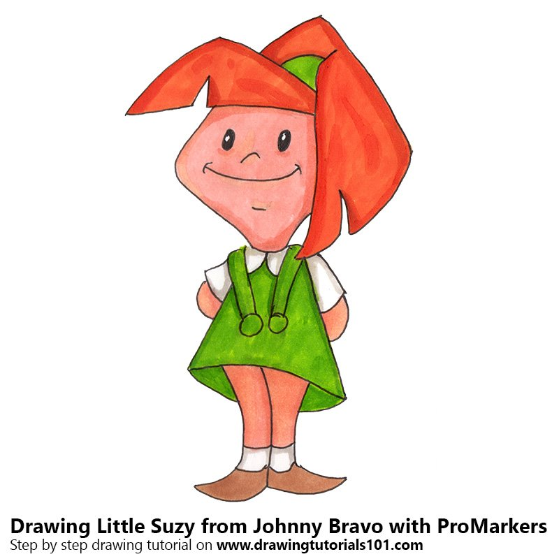 Little Suzy from Johnny Bravo Colored Pencils - Drawing Little Suzy ...