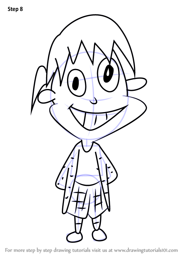learn how to draw june from kablam kablam step by step