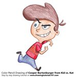How to Draw Cooper Burtonburger from Kid vs. Kat