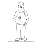 How to Draw Bill Dauterive from King of the Hill