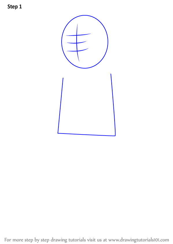 Step By Step How To Draw Bobby Hill From King Of The Hill