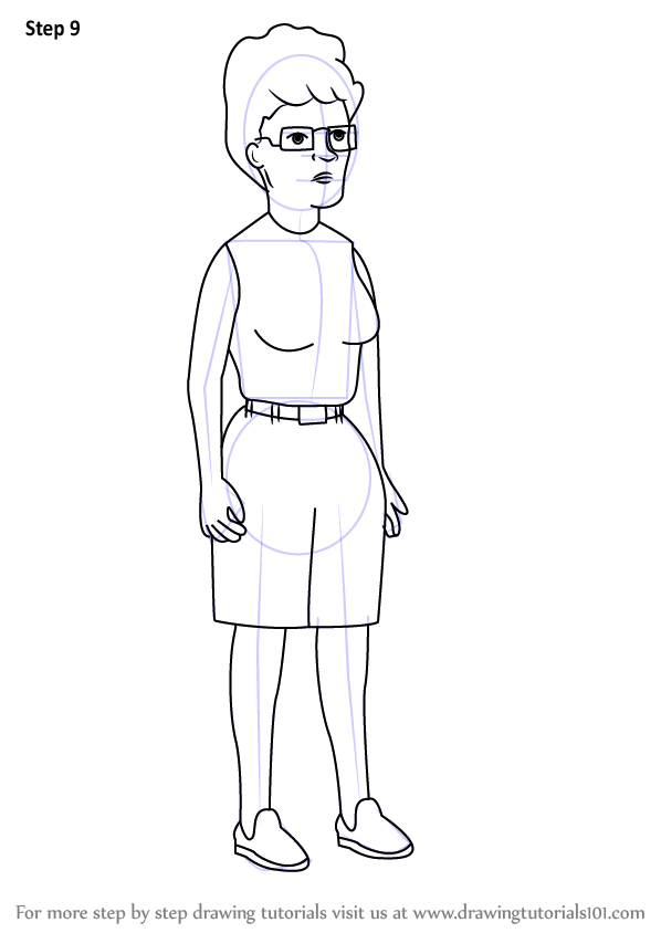 Step By Step How To Draw Peggy Hill From King Of The Hill
