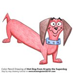 How to Draw Hot Dog from Krypto the Superdog