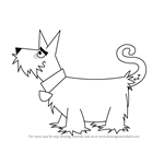 How to Draw Tail Terrier from Krypto the Superdog