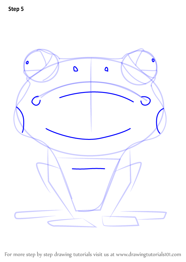 learn how to draw frog from larva larva step by step