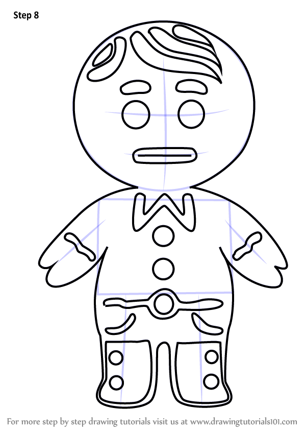 Learn How To Draw Gingerbread Boy From Little Charmers