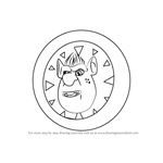 How to Draw Ogre Clock from Little Charmers