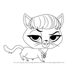 How to Draw Delilah Barnsley from Littlest Pet Shop