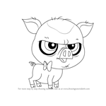 How to Draw Mary Frances from Littlest Pet Shop