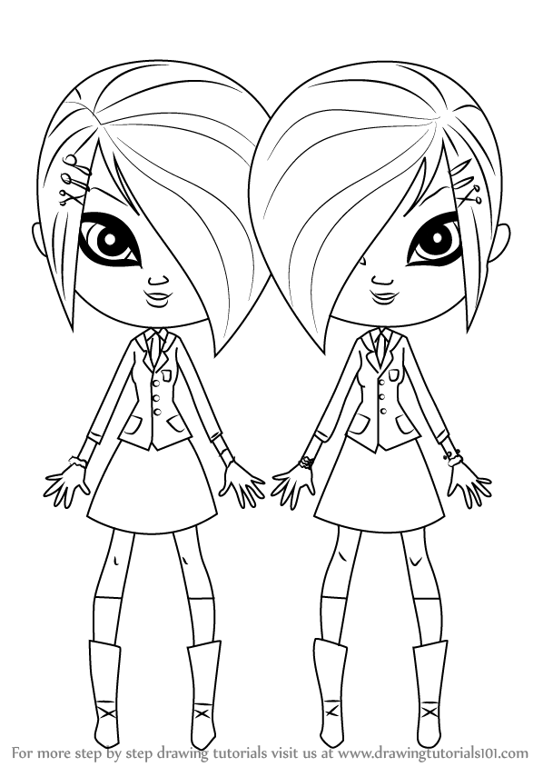 Learn How To Draw Whittany And Brittany Biskit From