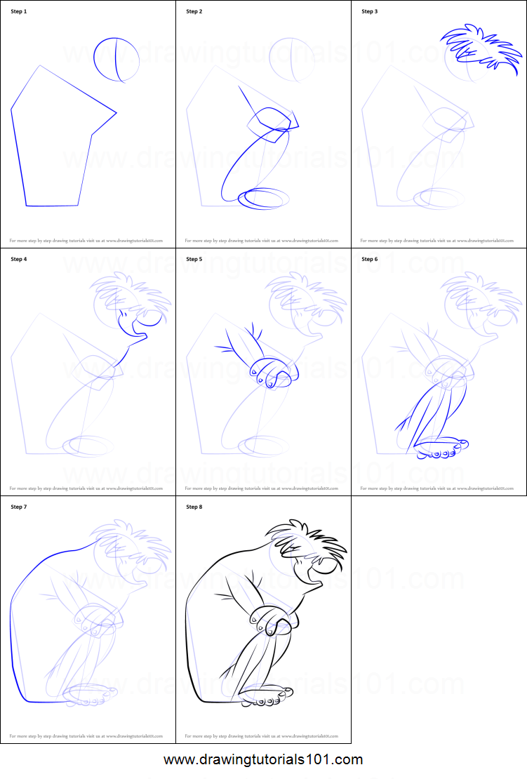 How to Draw Abominable Snowman from Looney Tunes printable ...