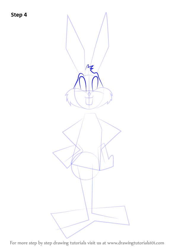 how to draw bunny feet