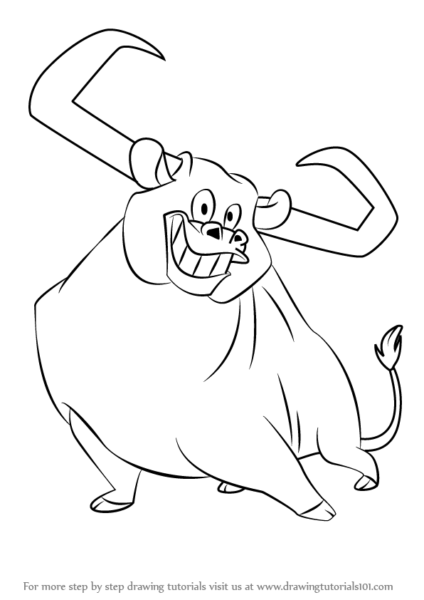 learn how to draw toro the bull from looney tunes looney tunes