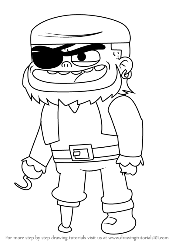 how to draw pirate jesse from looped