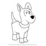How to Draw Dog from Masha and the Bear