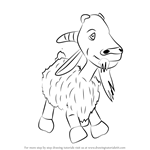 How to Draw Goat from Masha and the Bear