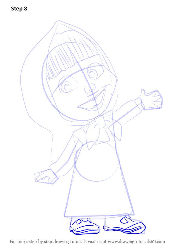 Master-class How to Draw Masha and the Bear