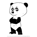 How to Draw Panda from Masha and the Bear