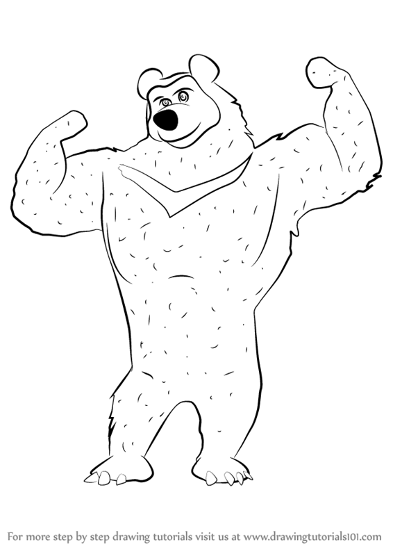 Learn How To Draw The Black Bear From Masha And The Bear Masha And