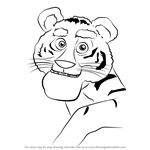 How to Draw Tiger from Masha and the Bear