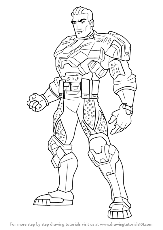 max steel printable coloring pages | Learn How to Draw Commander Forge Ferrus from Max Steel ...