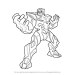 How to Draw Miles Dread from Max Steel