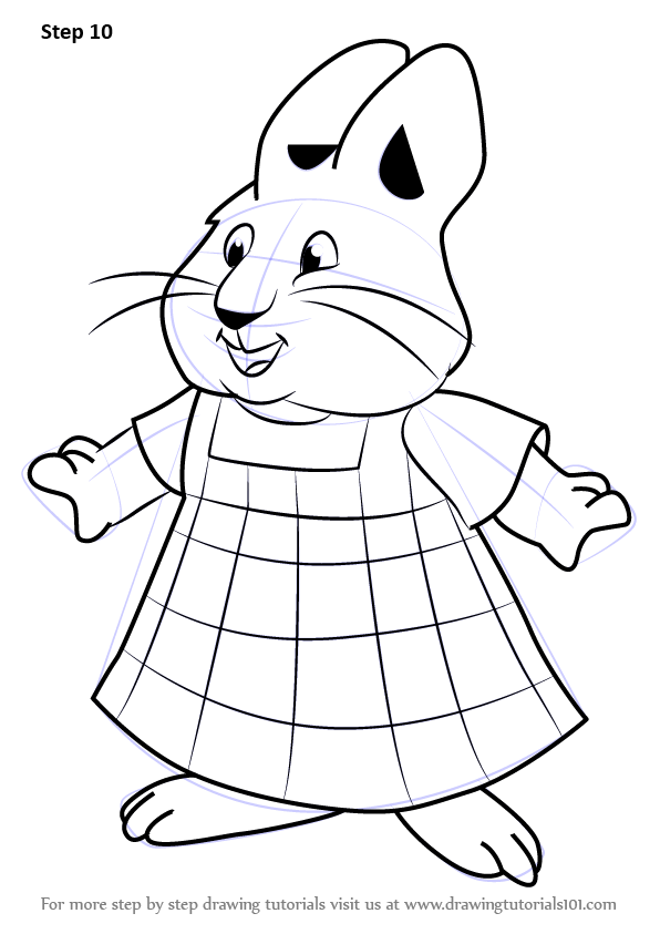 Learn How To Draw Louise From Max And Ruby Max And Ruby