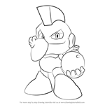 How to Draw Bomb Man from Mega Man